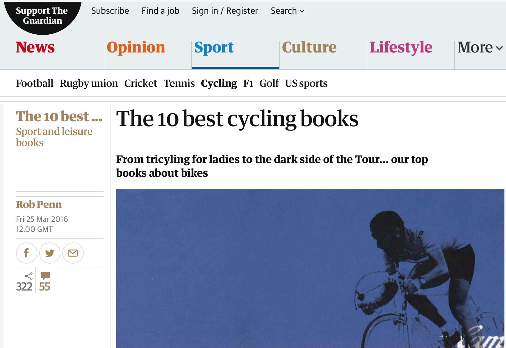 The Guardian: En iyi 10 bisiklet kitabı